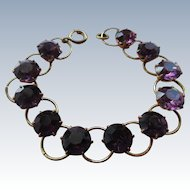 Vintage Amethyst Crystal Bracelet