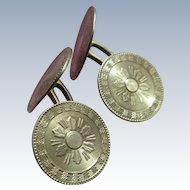 Antique 10K Cufflinks Double Cuff Buttons