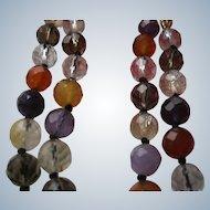 Vintage Faceted Natural Gemstone Beaded Necklace