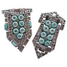 KTF Trifari Fur Clips Reg. 1935 Art Deco Signed Costume Jewelry - Red Tag Sale Item