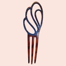 Vintage Deco Celluloid Paste Comb