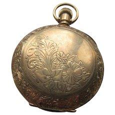 Antique Pocket Watch Locket in Gold Fill