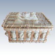 Antique Ribbon Work Basket