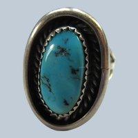 Vintage Sterling Native American Ring  Hallmark NJ