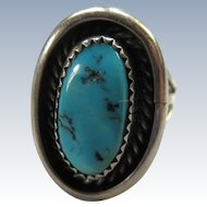 Vintage Sterling Native American Ring  Hallmark NJ