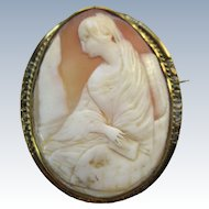Victorian 19th Century Cameo Brooch