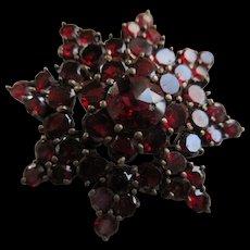 Antique Bohemian Garnet Star Pin