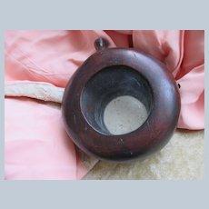 Antique Victorian Carved Wood Mirrored Pocket Watch Holder