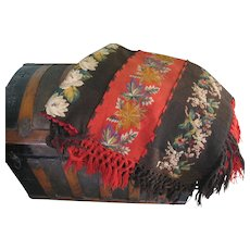 Victorian Hand Knit Afghan Carriage Blanket - Red Tag Sale Item