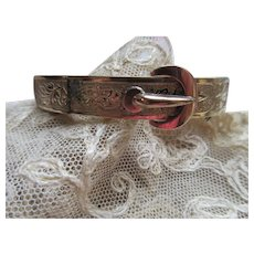 Victorian Buckle Bracelet in Gold Fill