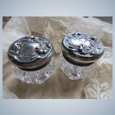 Art Nouveau Dresser Jars Set Of Two
