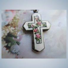 Creed Sterling Enameled Slider Cross Necklace