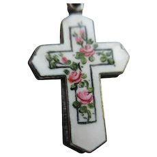 Creed Sterling Enameled Slider Cross Necklace