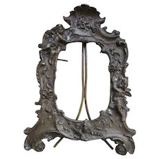 Antique Sayer Bronze Sayer Picture Frame Cherubs