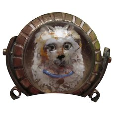 Victorian Reverse Carved Essex Crystal Terrier Dog Fob