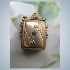 Victorian Picture Locket with Star Burst Paste Embellishment