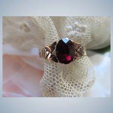 Victorian 10K Garnet Ring