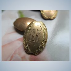 Turn of The Century Monogrammed Cufflinks in Gold Fill