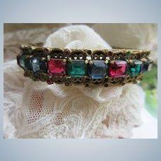 Vintage Jewel Toned Bangle Bracelet