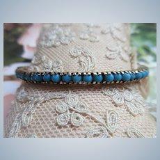 Older Vintage Persian Turquoise Gold Fill Bracelet