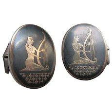 Vintage Sterling Siam Cufflinks