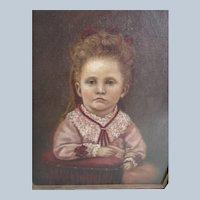 Antique Framed Portrait of Child 1872