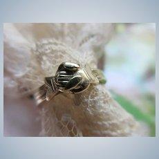Older Vintage 10K Fede Gimmel Ring