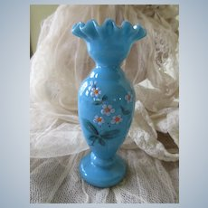 Victorian Bristol Hand Painted Vase