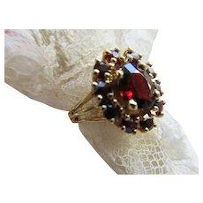 Vintage Bohemian Garnet Ring