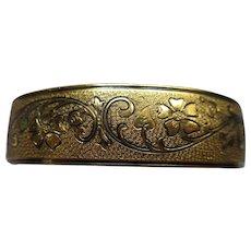 Vintage Gold Fill Enameled Bangle Bracelet