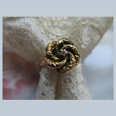 Victorian 10K Lovers Knot Ring