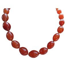 Vintage Carnelian Beaded Necklace