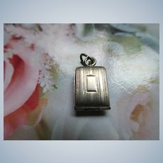 Vintage Sterling Compact Charm