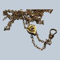 Antique Ladies Watch Chain in Gold Fill 10K Slide