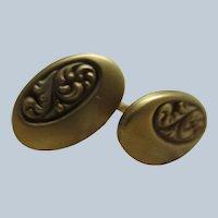 Antique Cufflinks in Heavy Gold Fill