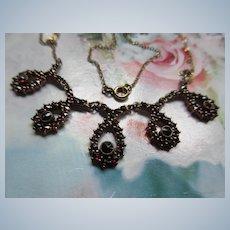 Vintage Silver Gilt Garnet Necklace Rabbit 3 Hallmark
