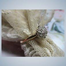 Older Vintage Cluster Diamond Engagement Ring
