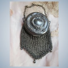 Deco German Silver Mesh Dance Purse