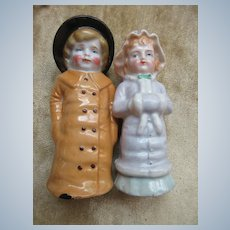 Vintage Victorian Couple Salt and Peppers