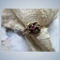 Antique 10K Lovers Knot Ring