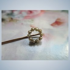 Antique 14K Seed Pearl Stick pin