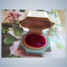 Vintage Celluloid Ring Box  Double Wedding Set