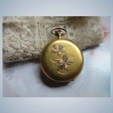 Antique 12K Seed Pearl Ladies Pocket Watch