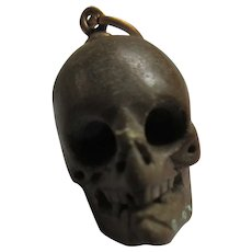 Antique Carved Skull Watch Fob