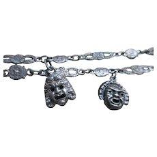 Vintage Peruzzi 800 Silver Charm Bracelets