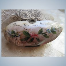 Early 1900s Niagara Falls Souvenir Sea Shell Purse