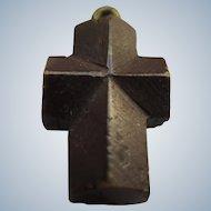 """Vintage Staurolite """" Fairy Cross """" Crystal Pendant Charm"""