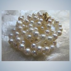 Vintage 14K Cultured Pearl Necklace