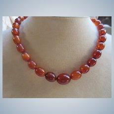 Vintage Baltic Amber Necklace Egg Yolk Amber