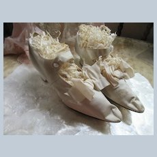 Antique Victorian Wedding Shoes